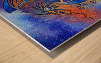 Dragissous V1 - blue dragon Wood print