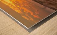 Fire & Water II Wood print