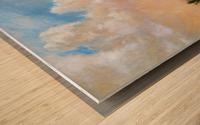On the Plains Cache la Poudre River Wood print