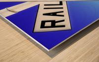 Railroad Crossing Sign Wood print