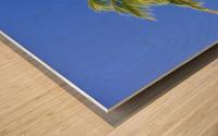 Palm Tree Against Clear Blue Sky Wood print