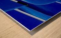 Blue Canoes Wood print