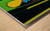 Looking Through Colorful Ovals Wood print