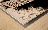 Vintage Sign Impression sur bois