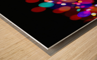 The Blur Of Coloured Lights; Edmonton, Alberta, Canada Wood print