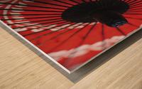 Japanese red umbrella; Kyoto, Japan Impression sur bois