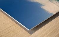 Blue Ocean Wave and Sunny Blue Sky Wood print