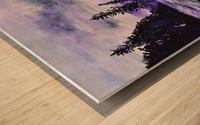 Sunrise Reflection at Second Beach Wood print