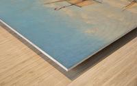 Shipping in a Flat Calm off the Dutch coast Wood print