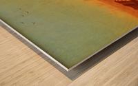 A halt in the desert Wood print