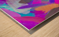 pink brown purple blue painting abstract background Wood print