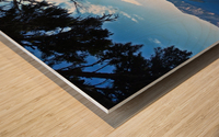 Crater Lake & Gnarled White Pine Wood print