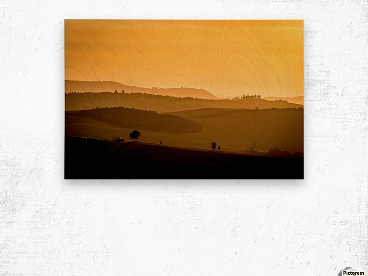 Tuscany Pienza Dawn Wood print