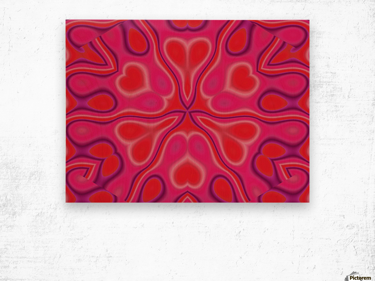 California Wildflower In Pink and Red Wood print