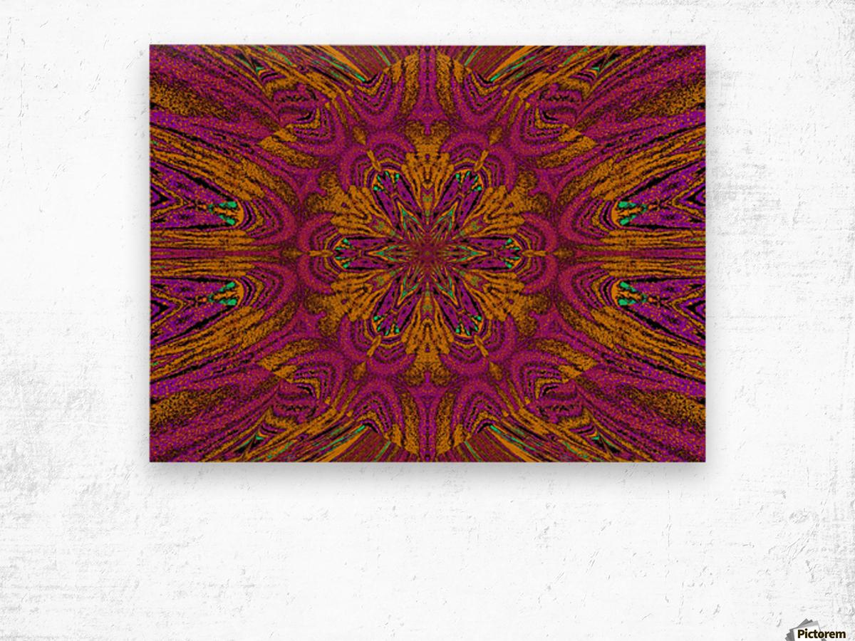 Pink Orange Jasmine Wood print