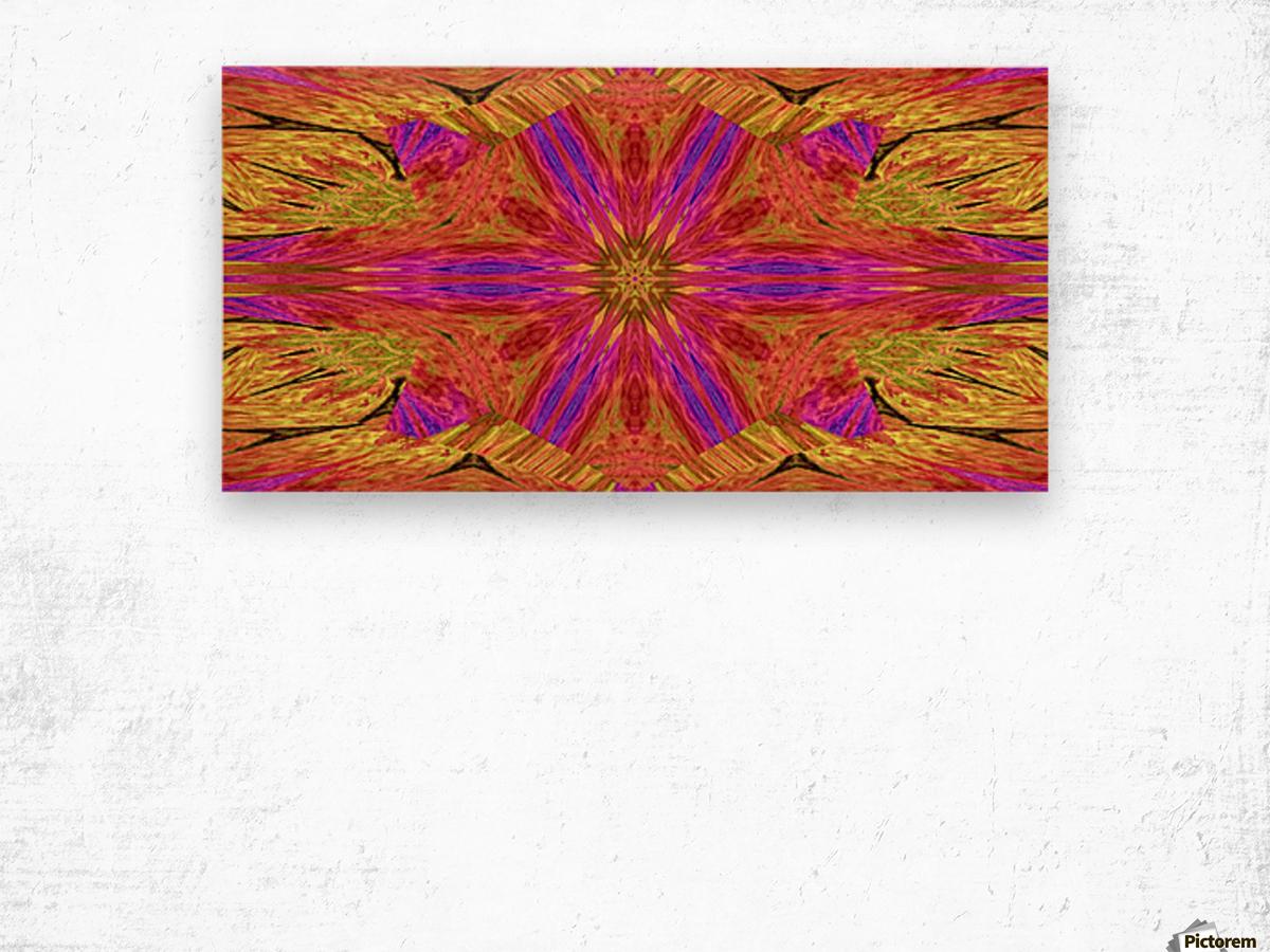 Star Flower in Pink Wood print