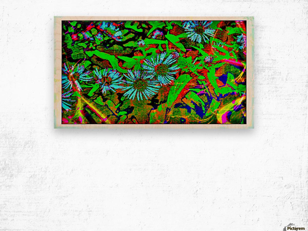 Green Flat-pic art Wood print