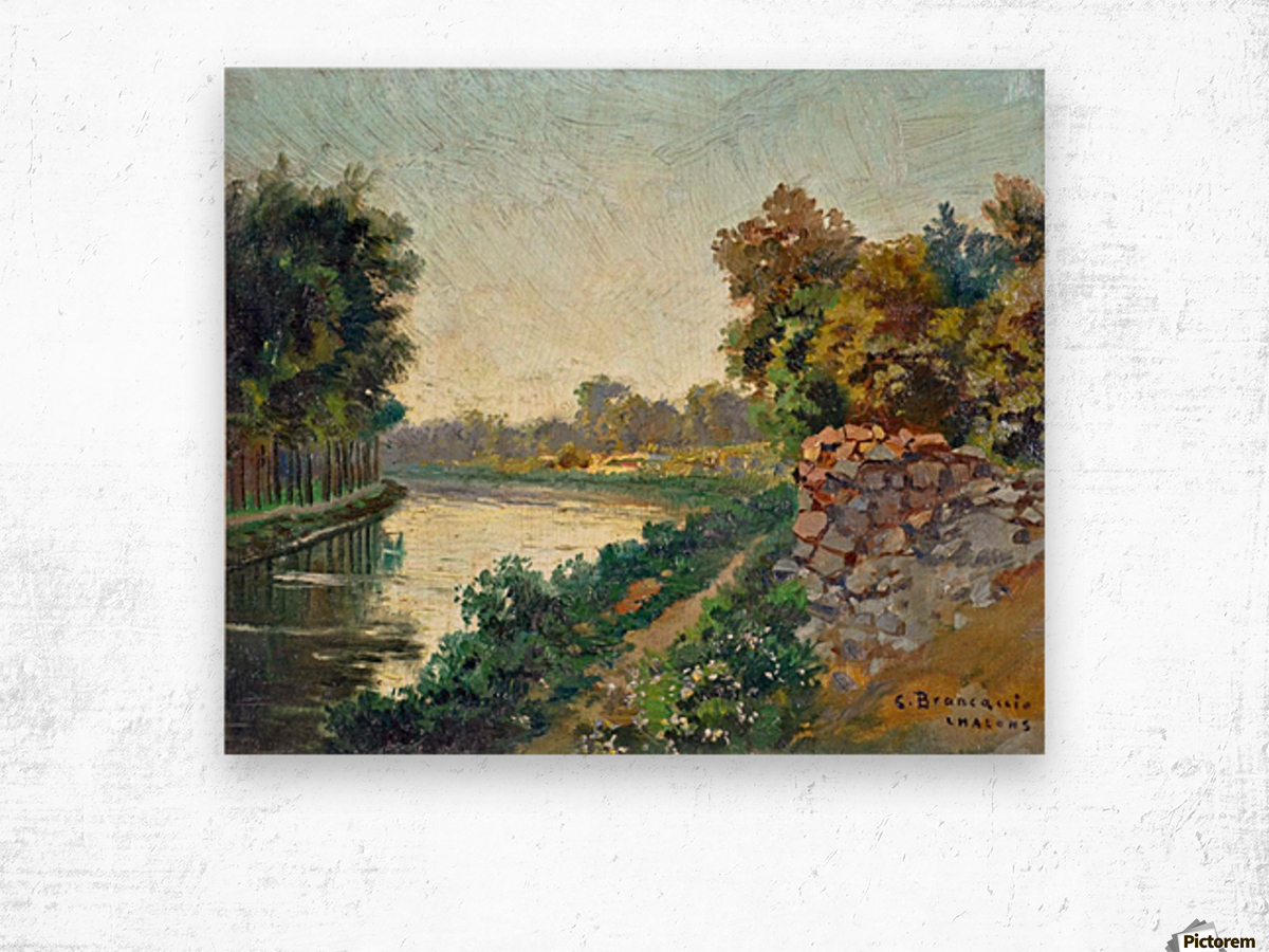 Canale a Saint Martin a Chalons Wood print
