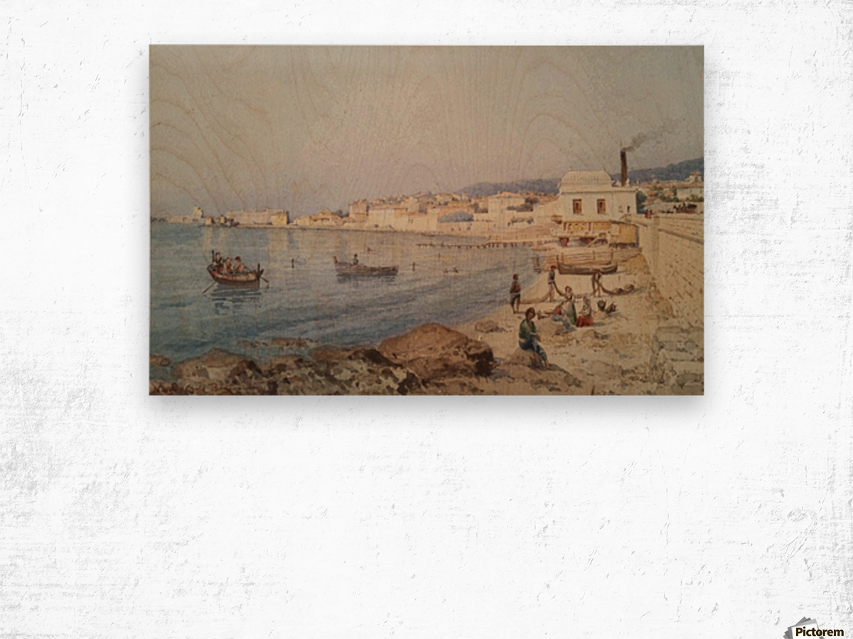 Marina di Napoli Wood print