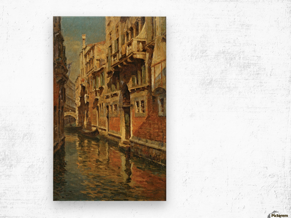 Shining morning in Venice Wood print