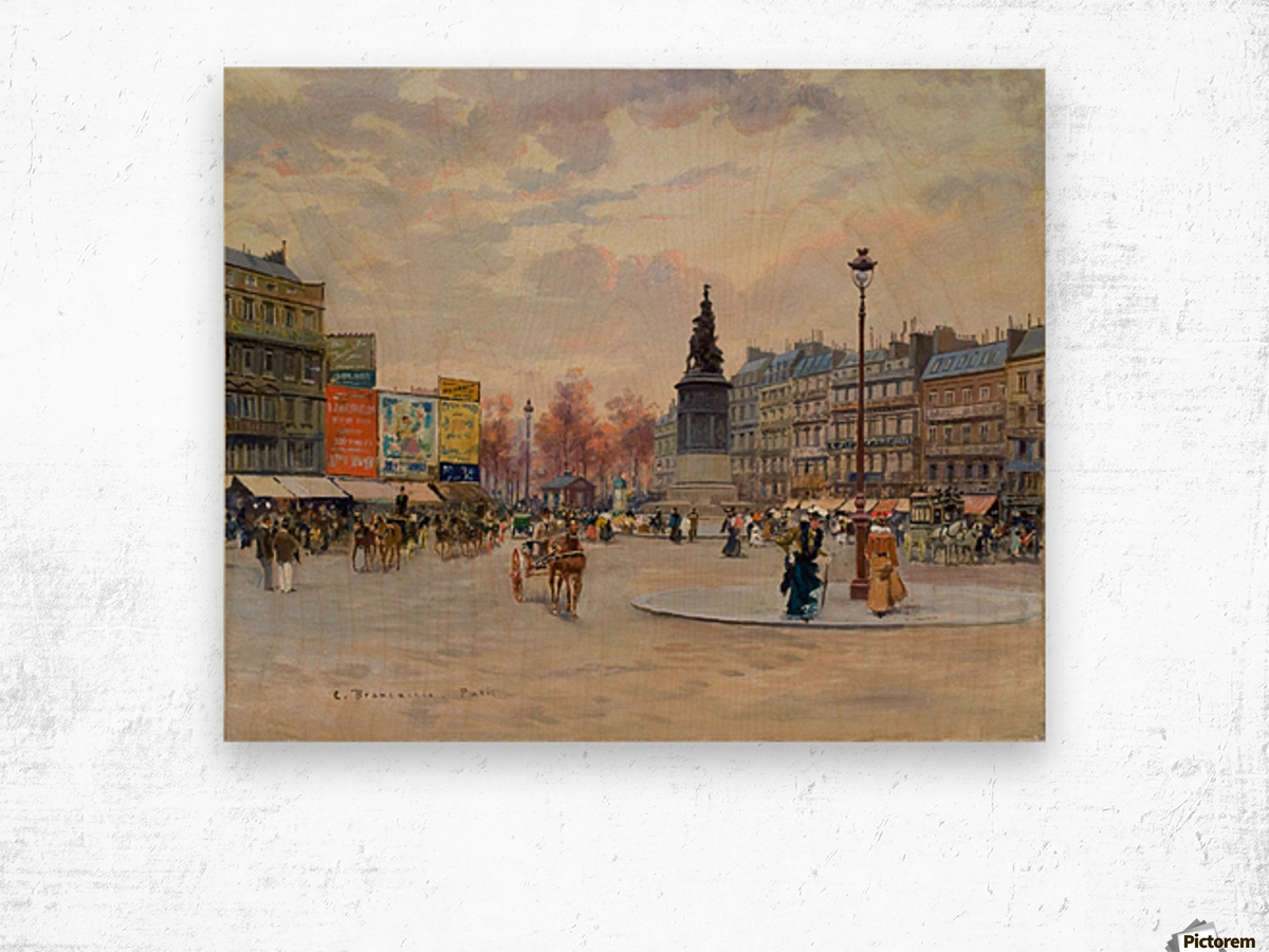 Place of Clichy Wood print