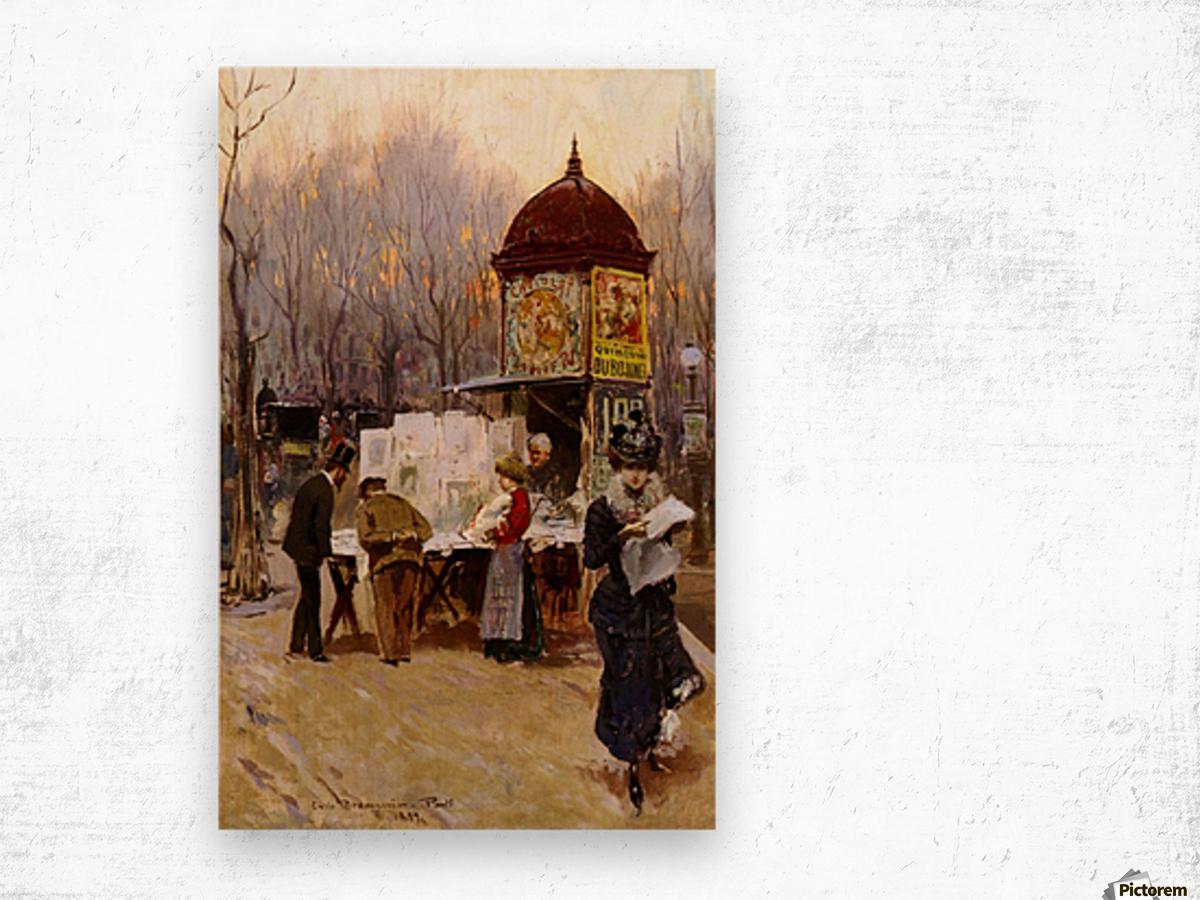 Paris, 1899 Wood print