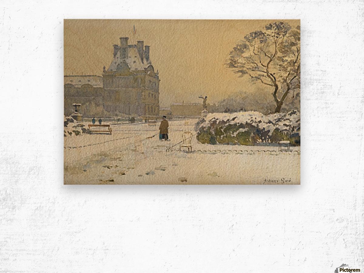Le pavillon de flore sous la neige, Paris Wood print