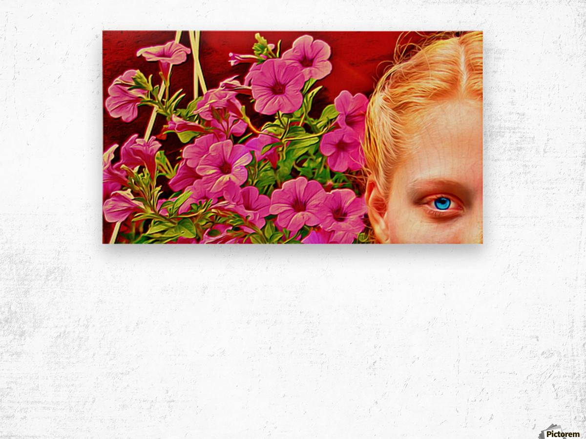 womanflowersEYE Wood print