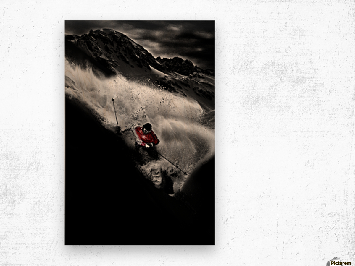 Dark Freeride Wood print