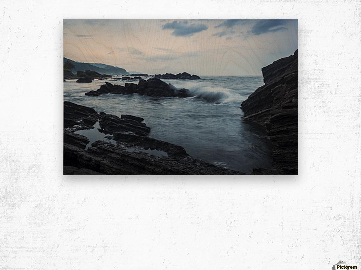 Waiao beach in Yilan County, beautiful volcanic landscape; Taiwan, China Wood print
