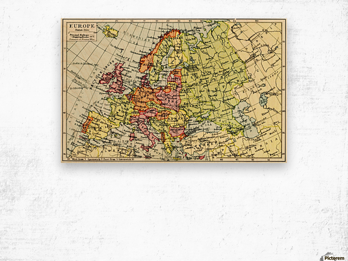 Picture of: A 1930 S Map Of Europe Pacificstock