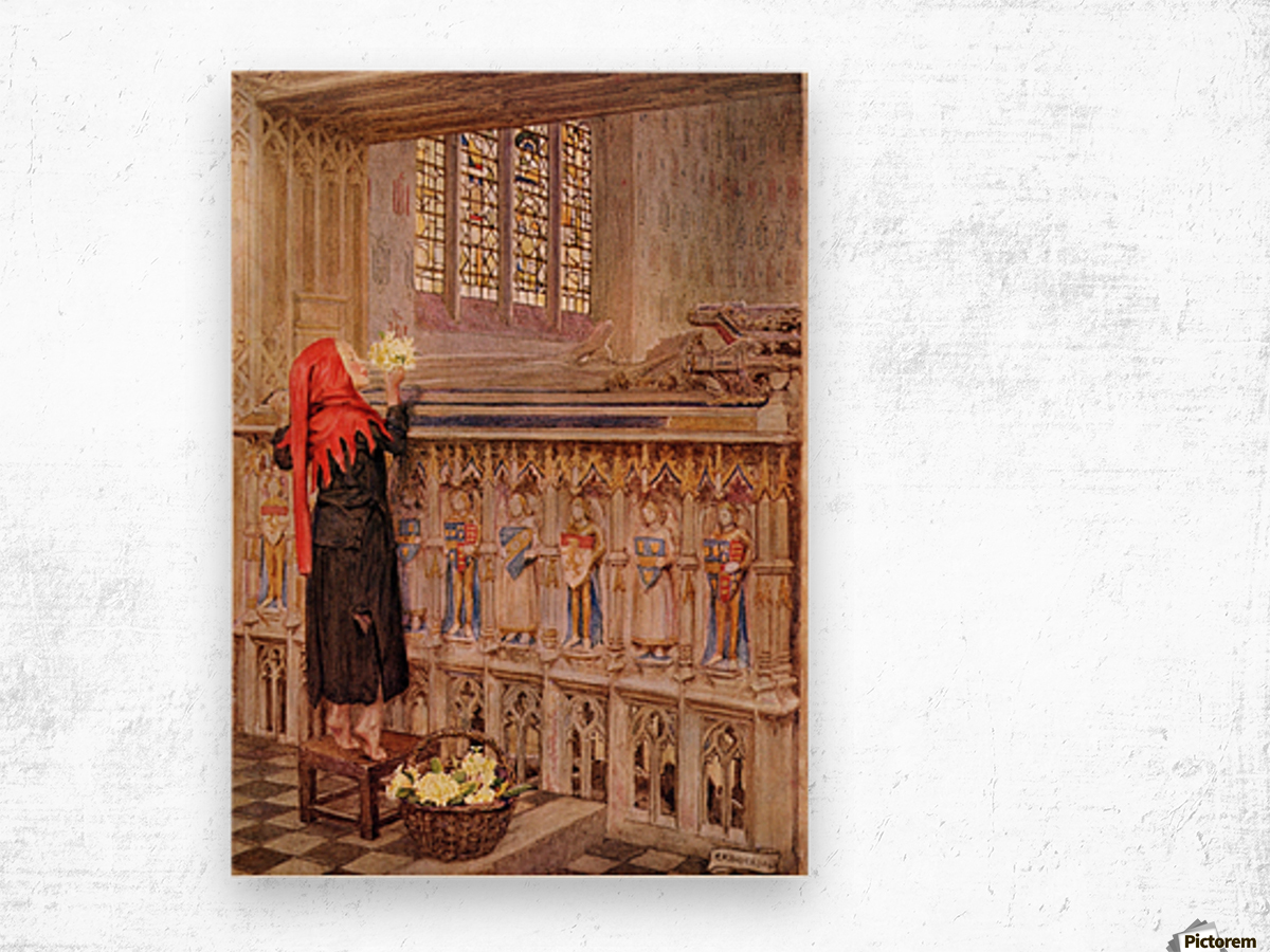 Coloured illustration by Eleanor Fortescue Brickdale illustrating the poem Death the Leveller by Shirley. From the book Palgrave's Golden Treasury of Songs and Lyrics published 1919. Wood print