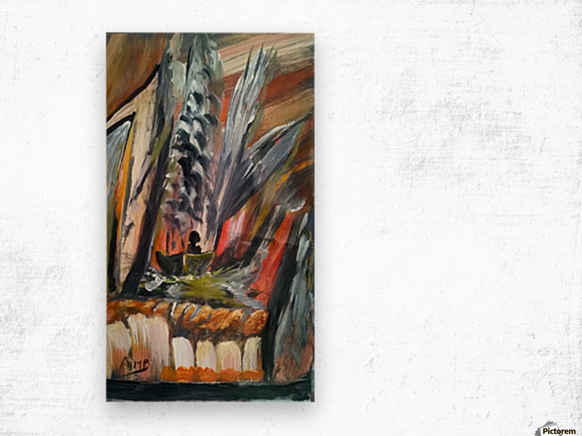 abstact canvas acrylic  Impression sur bois