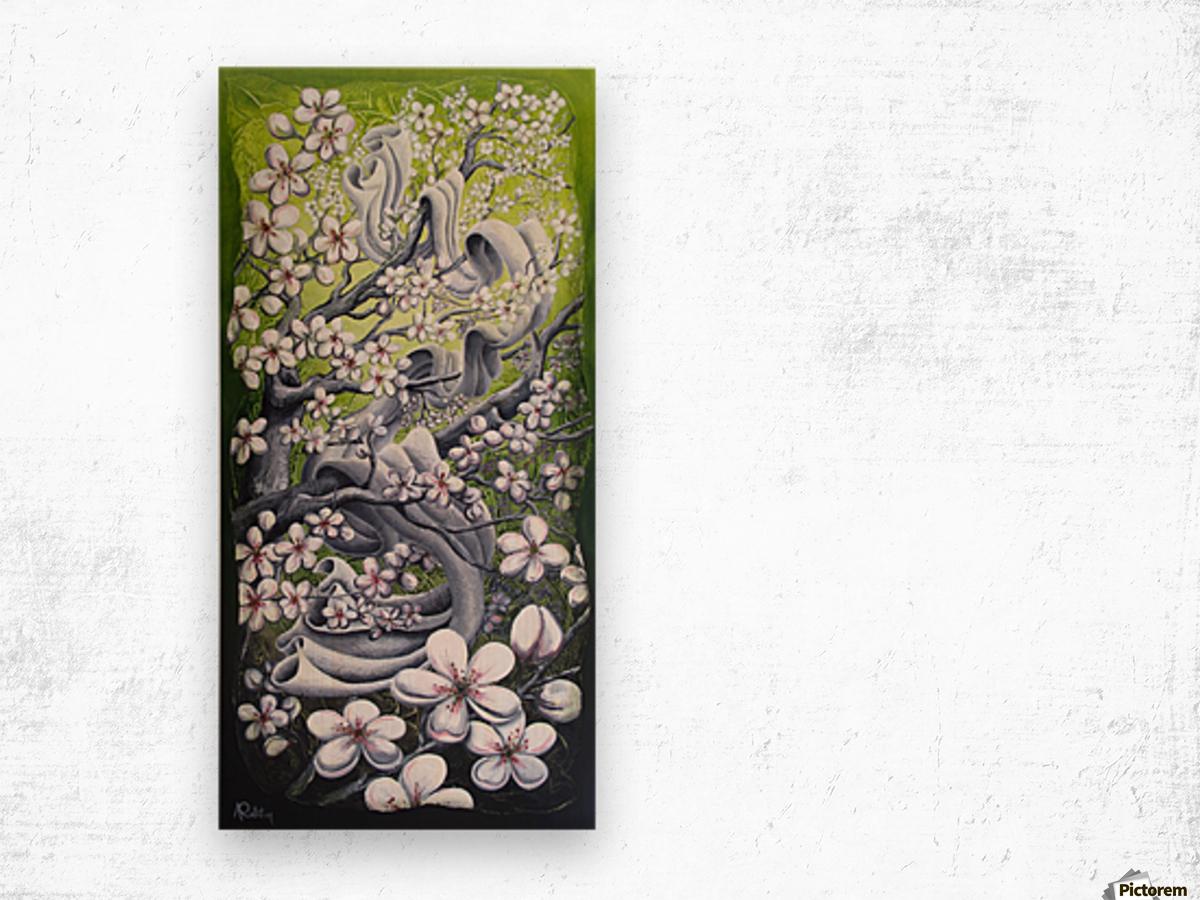 Cherry blossom dance Wood print
