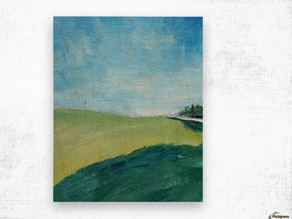 Study for Fields at Cossall Wood print