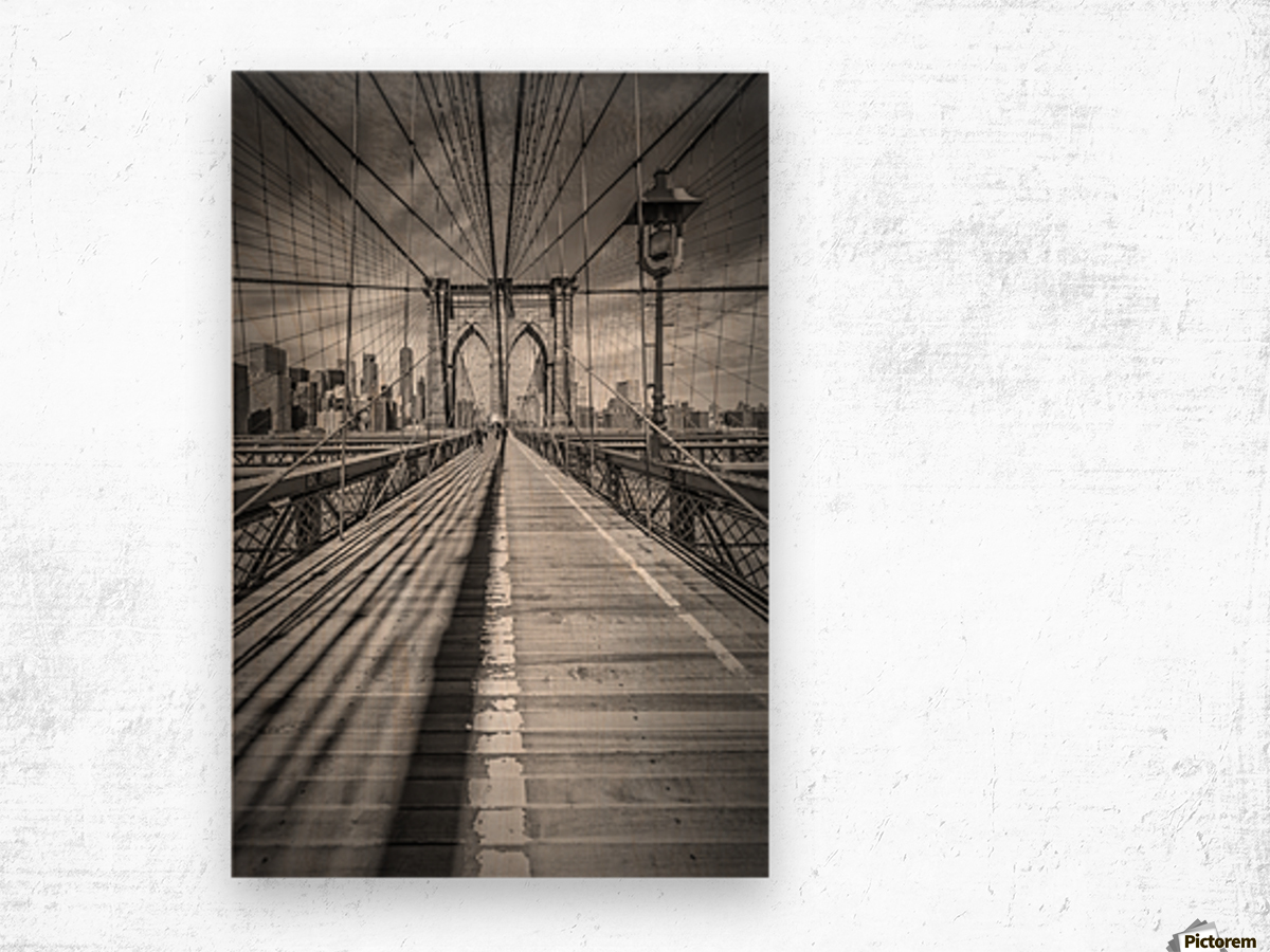 NEW YORK CITY Brooklyn Bridge Wood print