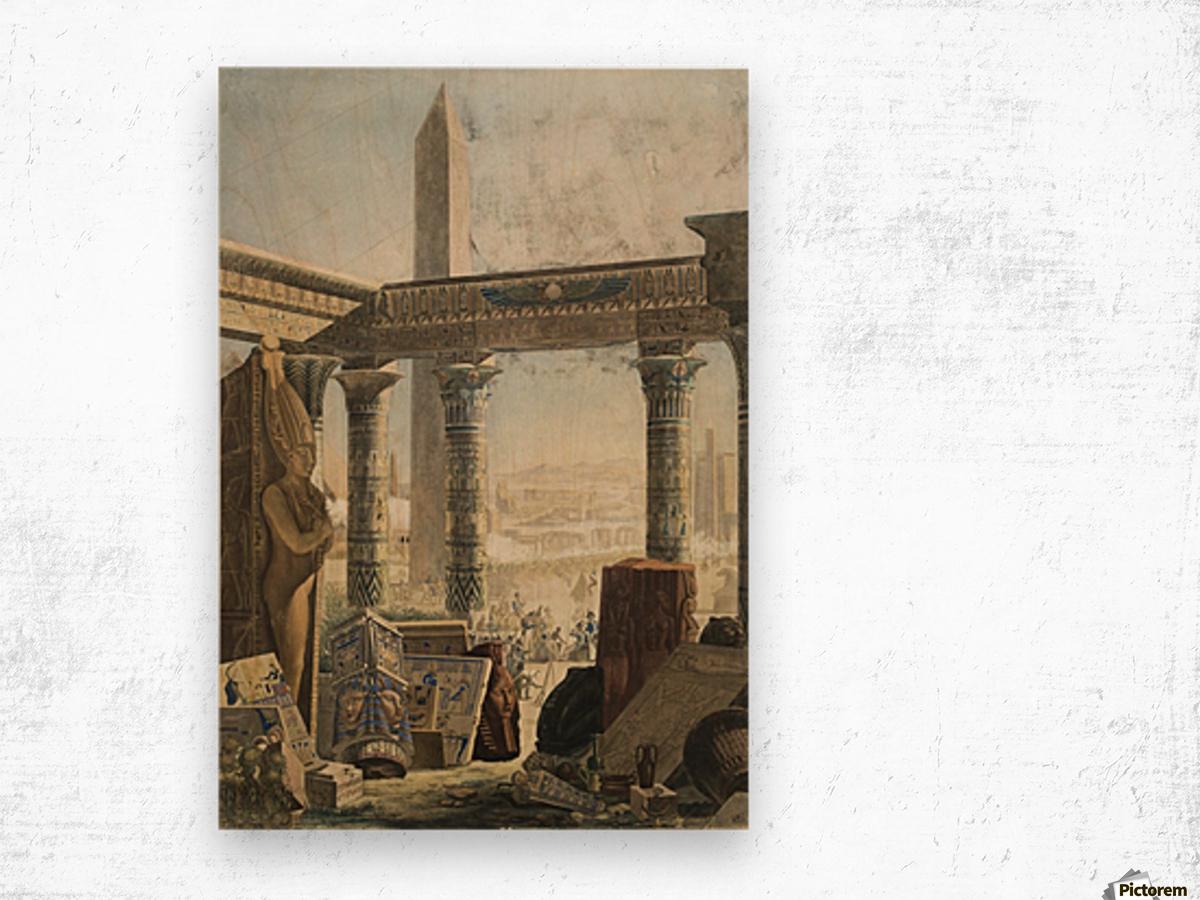The description of Egypt, 1824 Wood print