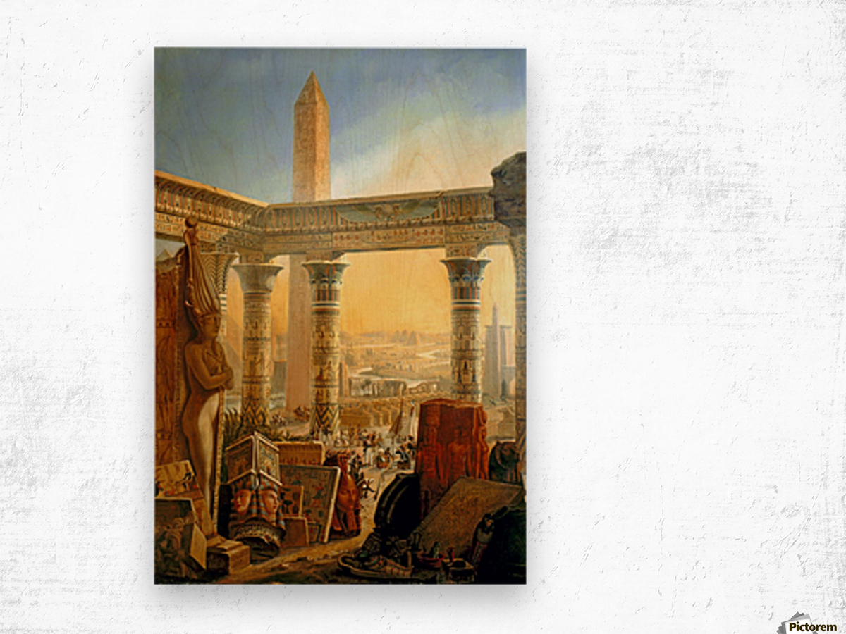 Monuments of Egypt, 1821 Wood print