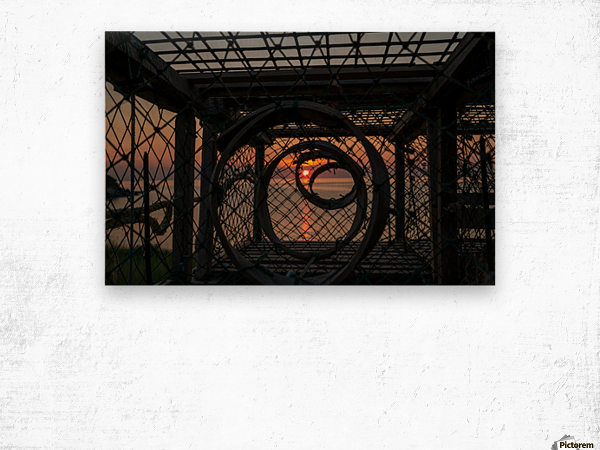 Trapped Sunset Wood print