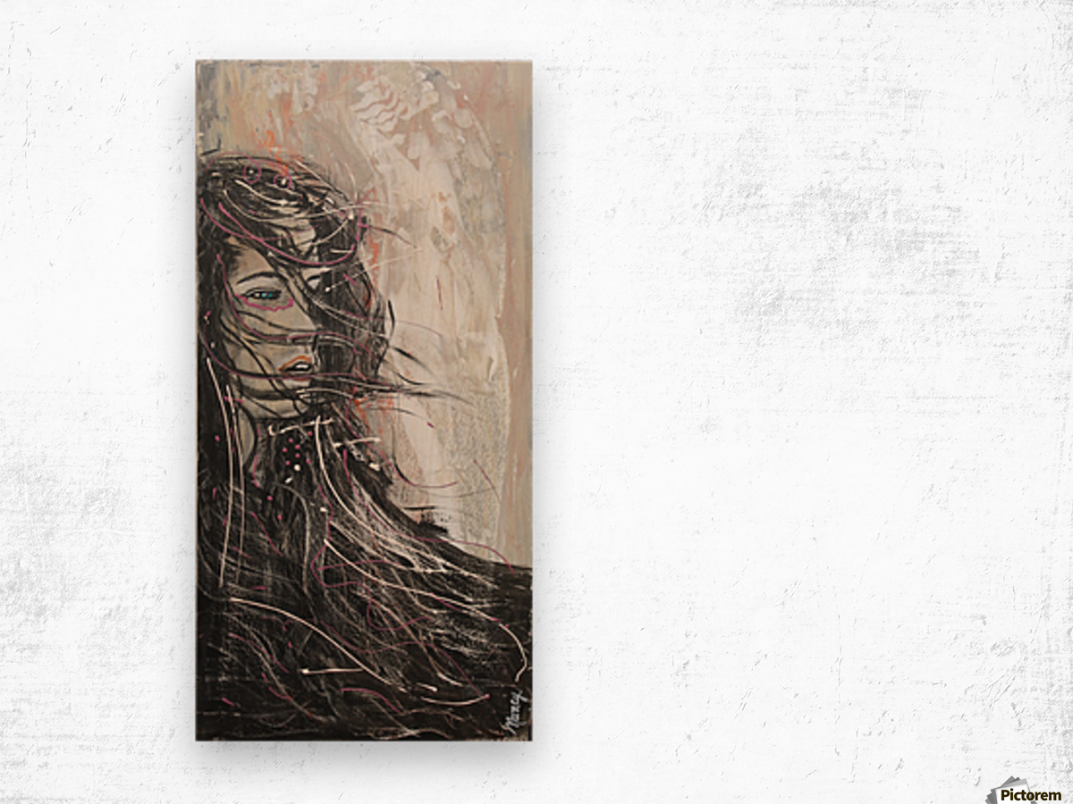 Le Vent Wood print