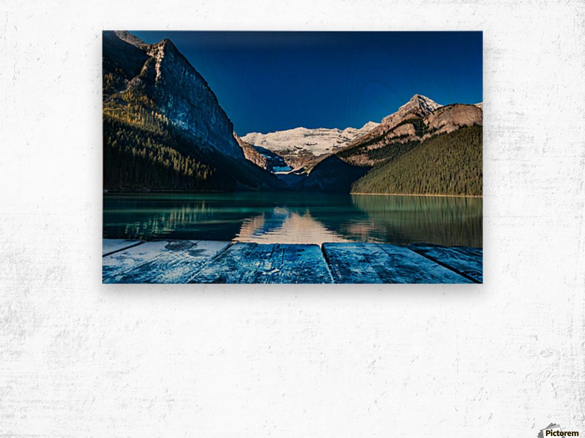 Lake Louise Dock Wood print