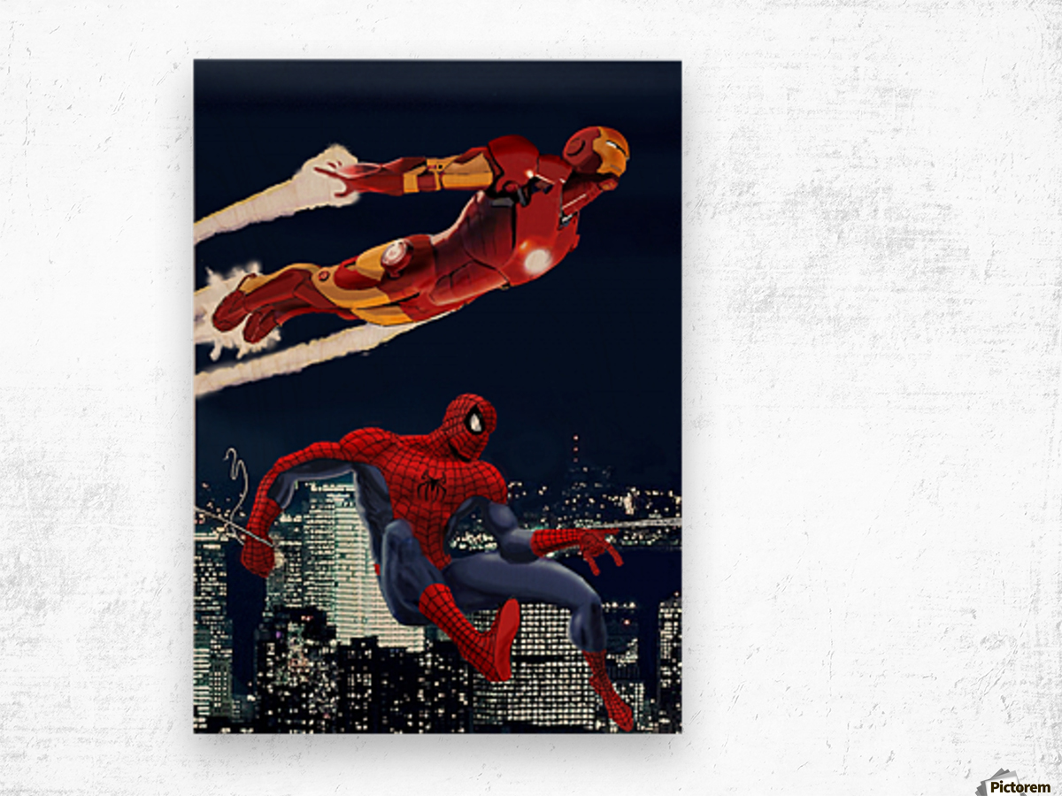 Marvel: Iron Man & Spider-Man Wood print