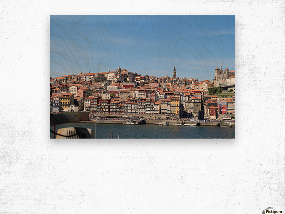 Oporto City at Douro River Wood print