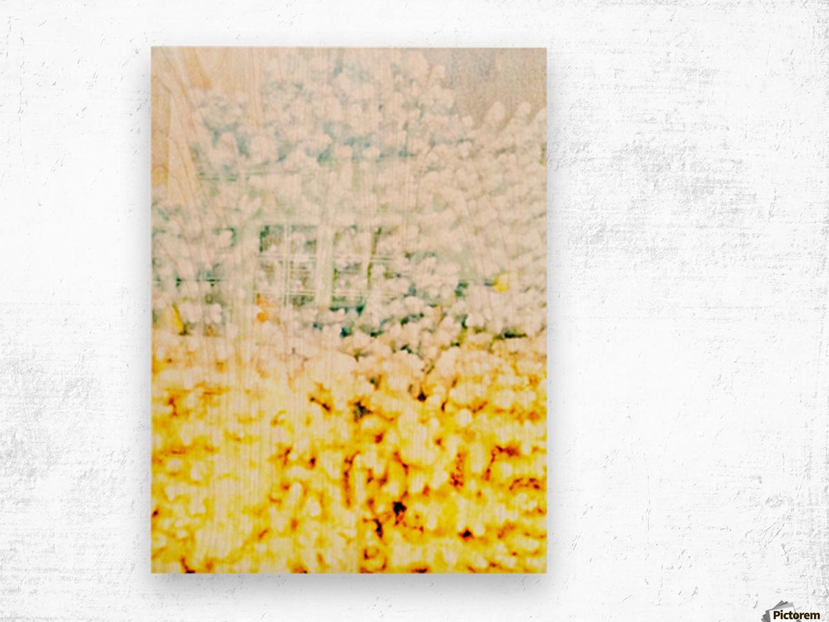 BURST - YELLOW & WHITE Wood print