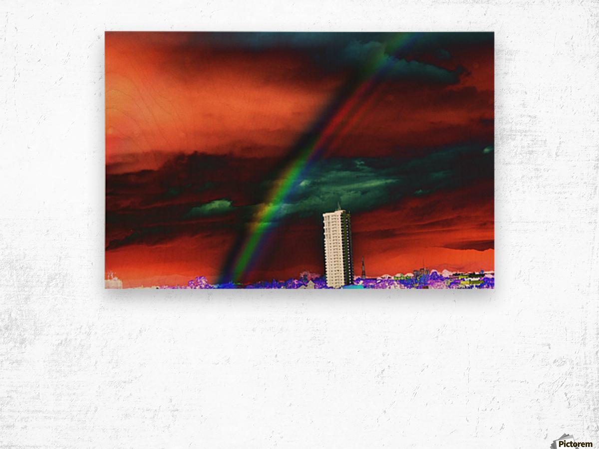 Rainbow. Wood print