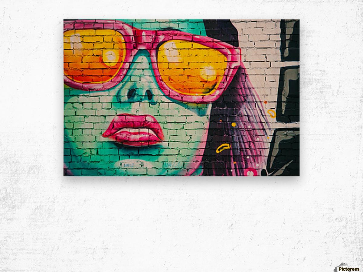 graffiti wall Wood print