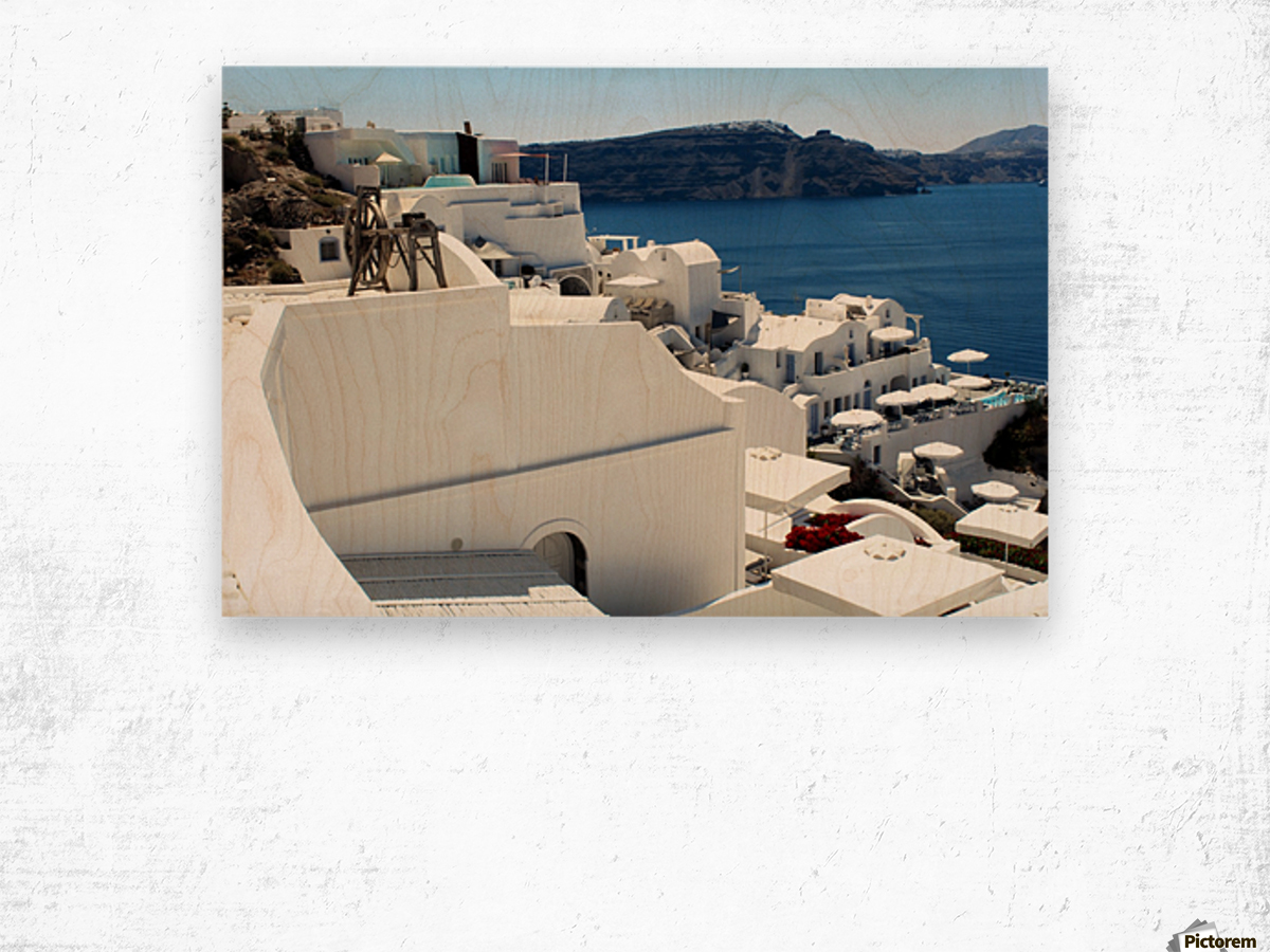 Santorini Landscape - Greece Wood print