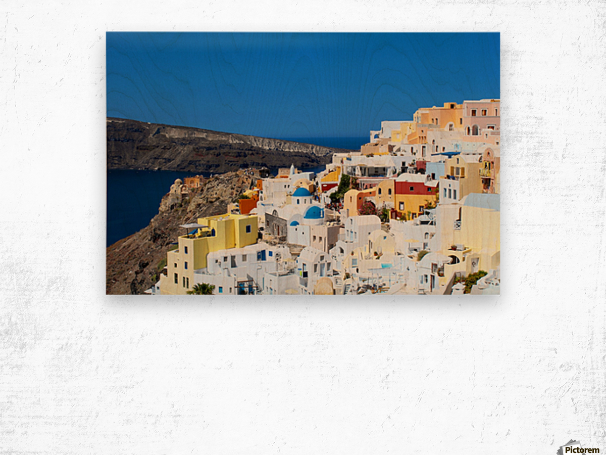 Santorini Landscape - Greece Wood print