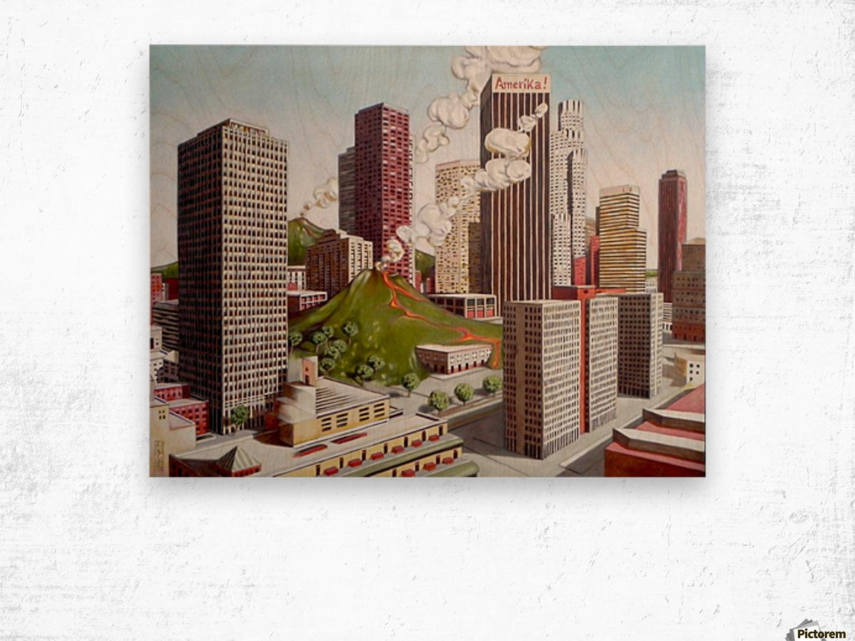 Volcano in Los Angeles Wood print
