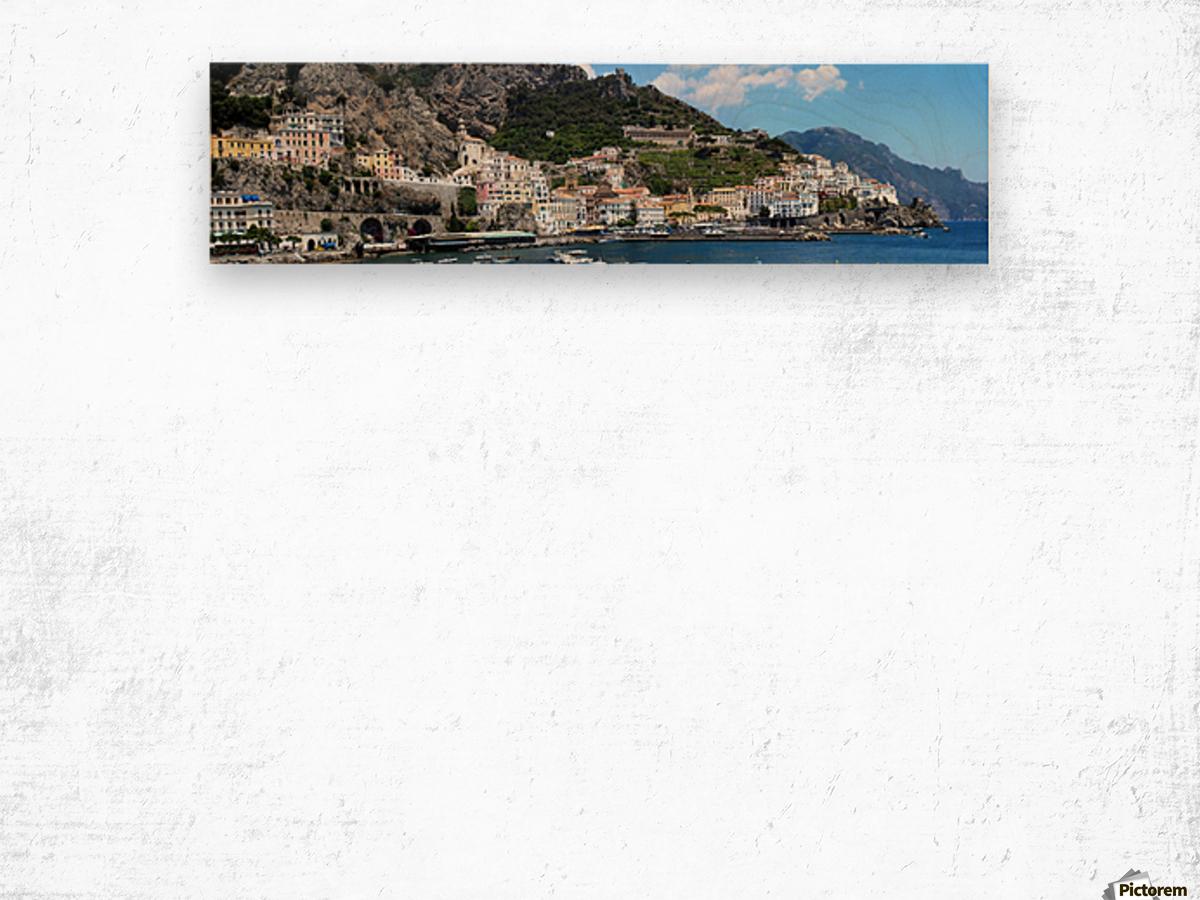 Super panoramic Amalfi City - Italy Wood print